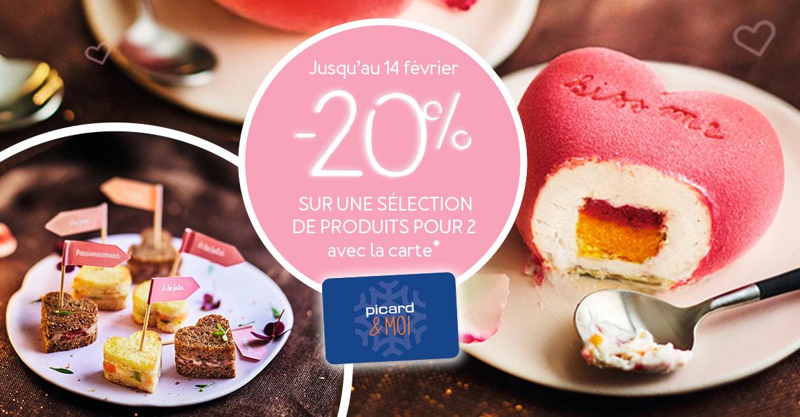 -20%  Sur une sélection de produits pour 2 avec la carte